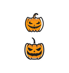 pumpkin with smile for your design vector image