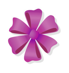Purple flower bow isolated pussy bright bow knot vector