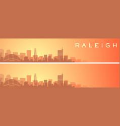 Raleigh beautiful skyline scenery banner vector