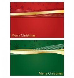 Red and green Christmas banners vector