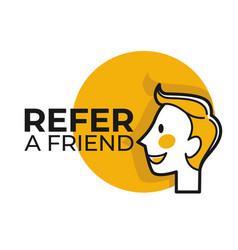 refer friend share information social media vector image