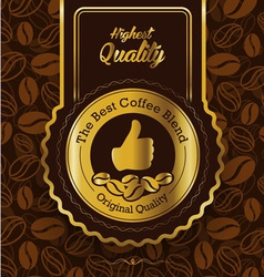 Retro Vintage Coffee Background with Label vector
