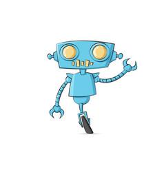 robot cartoon character tech cyborg vector image