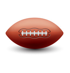 Rugby oval ball or american football equipment vector