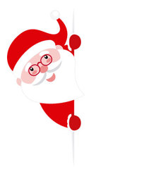 Santa Claus with a poster vector