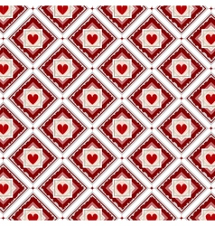 Seamless red hearts pattern vector