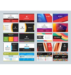 Set creative and clean business card print vector