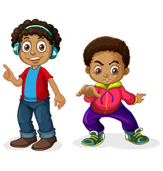 set of africa boy character vector image