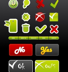 set of badges with symbols vector image