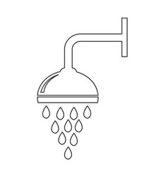 shower icon design vector image