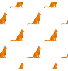 Sitting cat pattern seamless vector
