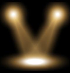 spotlight light effect golden color vector image
