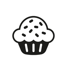 Sweet cupcake Icon design on white vector image
