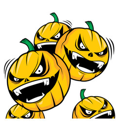 Terror of the pumpkin heads vector