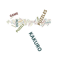 The craze that is the kakuro puzzles text vector