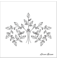 Tree brunch outline vector image