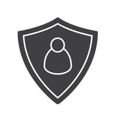 User security glyph icon vector