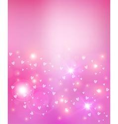 Valentines day heart abstract background vector image