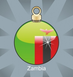 Zambia flag on bulb vector image
