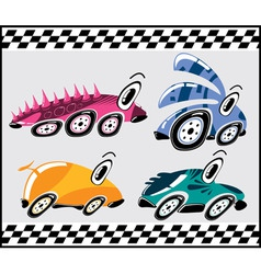 cartoon racers vector image