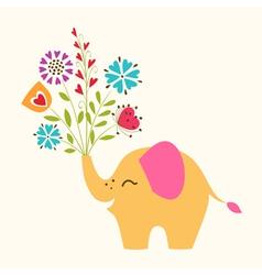 Happy little Elephant vector image vector image