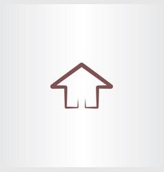 house symbol design element vector image