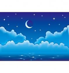 night seascape vector image vector image
