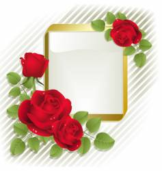 roses with frame vector image vector image