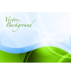 background abstract green and blue wave text vector image vector image