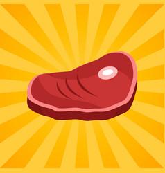 bacon steak on bone isolated vector image vector image