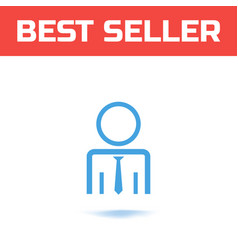 businessman or user icon the symbol for your web vector image