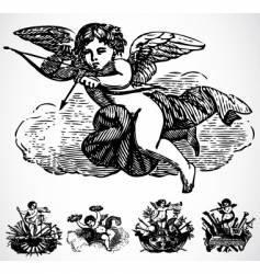 cupid ornaments vector image vector image