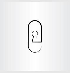 keyhole icon design vector image
