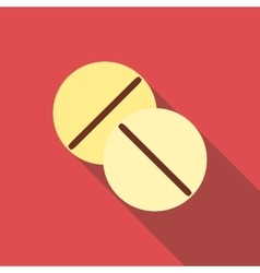 Pill icon flat style vector