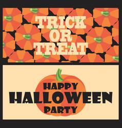 trick or treat happy halloween party postcard vector image vector image