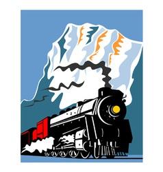 Vintage Steam Train Locomotive Retro vector image