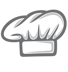white chef hat vector image vector image