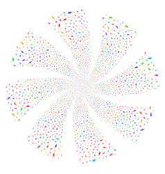 electric strike fireworks swirl flower vector image vector image