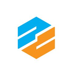hexagon business technology logo vector image