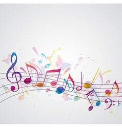 note music abstract vector image vector image