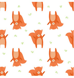 pattern squirrel vector image vector image