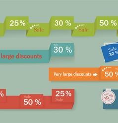 Sale Banner Design Advertising shopping flyers vector image