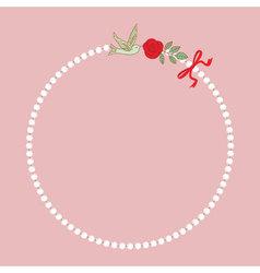 Vintage pearl necklace vector image vector image