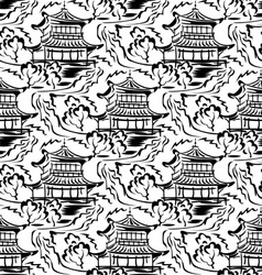 asian temple seamless vector image vector image
