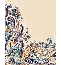 Decorative abstract hand drawn floral background vector image vector image