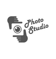 photography camera concept logo icon vector image vector image