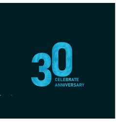 30 year anniversary aqua color template design vector