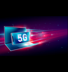 5g high speed network communication internet on vector