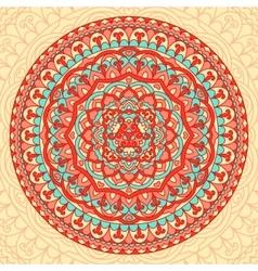 Abstract flower mandala decorative ethnic element vector