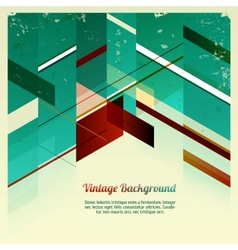 Abstract Retro Geometric vector image